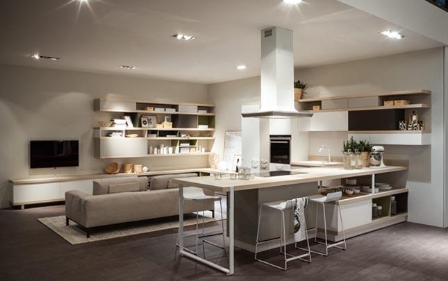 cucina e soggiorno: ambiente unico! | mobel arredamenti - Cucina Salone Ambiente Unico